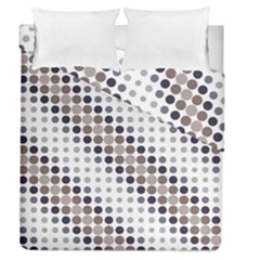 Circle Blue Grey Line Waves Black Duvet Cover Double Side (queen Size) by Alisyart