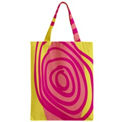 Doodle Shapes Large Line Circle Pink Red Yellow Classic Tote Bag by Alisyart