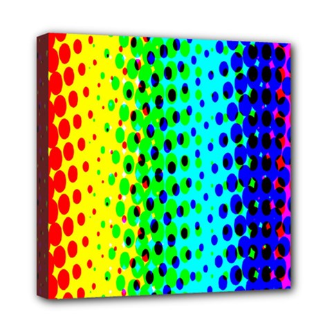 Comic Strip Dots Circle Rainbow Mini Canvas 8  X 8  by Alisyart