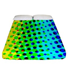 Comic Strip Dots Circle Rainbow Fitted Sheet (king Size) by Alisyart