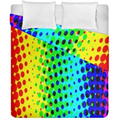 Comic Strip Dots Circle Rainbow Duvet Cover Double Side (california King Size) by Alisyart