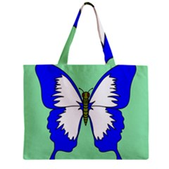Draw Butterfly Green Blue White Fly Animals Mini Tote Bag by Alisyart