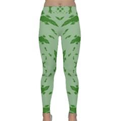 Green Hole Classic Yoga Leggings by Alisyart