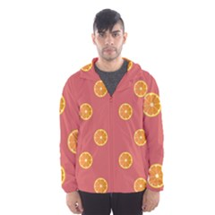 Oranges Lime Fruit Red Circle Hooded Wind Breaker (men) by Alisyart