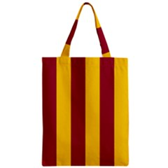Red Yellow Flag Zipper Classic Tote Bag by Alisyart