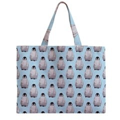 Penguin Animals Ice Snow Blue Cool Medium Tote Bag by Alisyart