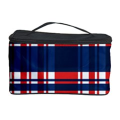 Plaid Red White Blue Cosmetic Storage Case by Alisyart