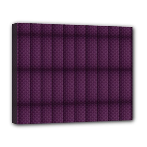 Plaid Purple Deluxe Canvas 20  X 16   by Alisyart