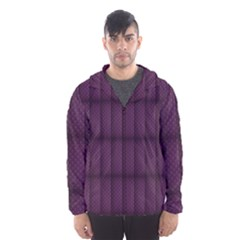Plaid Purple Hooded Wind Breaker (men) by Alisyart