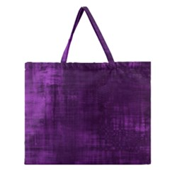 Background Wallpaper Paint Lines Zipper Large Tote Bag by Amaryn4rt