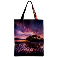 Landscape Reflection Waves Ripples Zipper Classic Tote Bag by Amaryn4rt