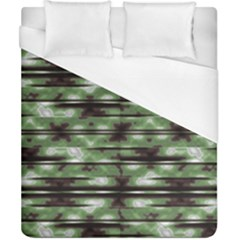 Stripes Camo Pattern Print Duvet Cover (california King Size) by dflcprints