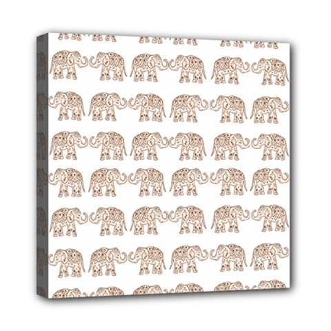 Indian Elephant Mini Canvas 8  X 8  by Valentinaart