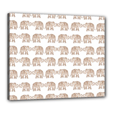 Indian Elephant Canvas 24  X 20  by Valentinaart