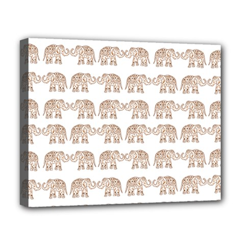 Indian Elephant Deluxe Canvas 20  X 16   by Valentinaart