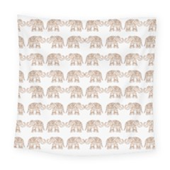 Indian Elephant Square Tapestry (large) by Valentinaart