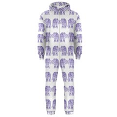 Indian Elephant Pattern Hooded Jumpsuit (men)  by Valentinaart