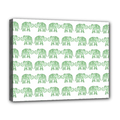 Indian Elephant Pattern Canvas 14  X 11  by Valentinaart