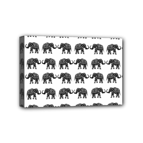 Indian Elephant Pattern Mini Canvas 6  X 4  by Valentinaart