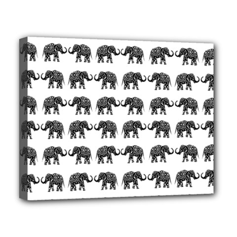 Indian Elephant Pattern Deluxe Canvas 20  X 16   by Valentinaart