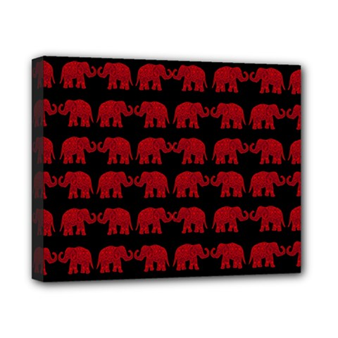 Indian Elephant Pattern Canvas 10  X 8  by Valentinaart