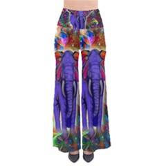 Abstract Elephant With Butterfly Ears Colorful Galaxy Pants by EDDArt