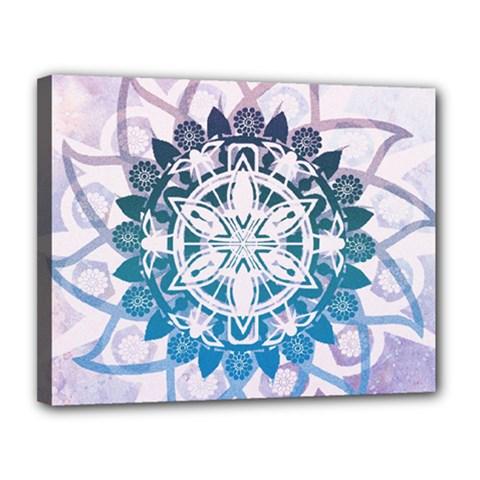 Mandalas Symmetry Meditation Round Canvas 14  X 11  by Amaryn4rt