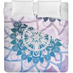 Mandalas Symmetry Meditation Round Duvet Cover Double Side (king Size) by Amaryn4rt