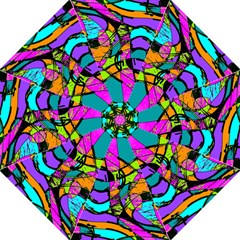 Abstract Art Squiggly Loops Multicolored Straight Umbrellas by EDDArt
