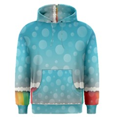 Rainbow Background Border Colorful Men s Pullover Hoodie