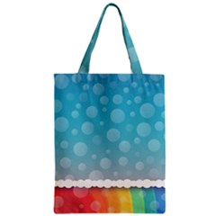 Rainbow Background Border Colorful Zipper Classic Tote Bag by Amaryn4rt