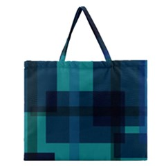 Boxes Abstractly Zipper Large Tote Bag by Amaryn4rt