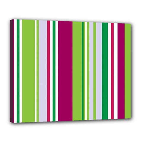 Beautiful Multi Colored Bright Stripes Pattern Wallpaper Background Canvas 20  X 16  by Amaryn4rt
