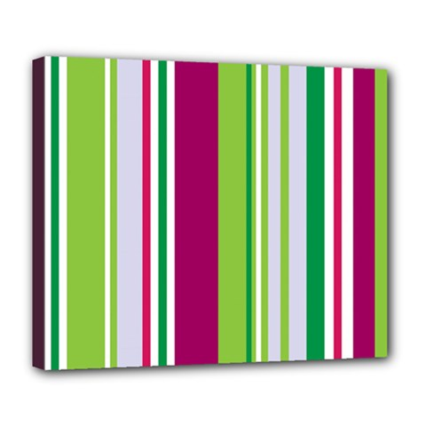 Beautiful Multi Colored Bright Stripes Pattern Wallpaper Background Deluxe Canvas 24  X 20