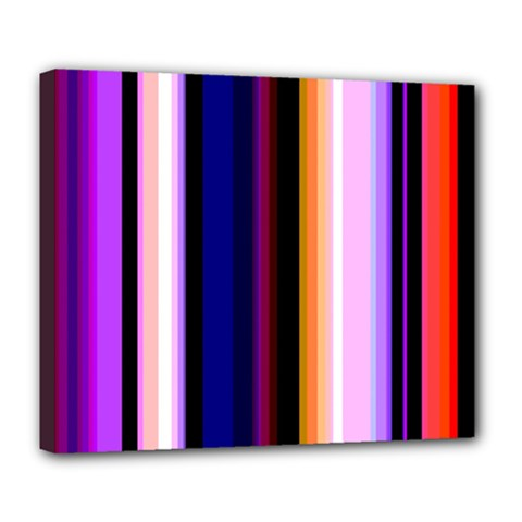 Fun Striped Background Design Pattern Deluxe Canvas 24  X 20   by Amaryn4rt
