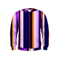 Fun Striped Background Design Pattern Kids  Sweatshirt by Amaryn4rt