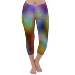 A Mix Of Colors In An Abstract Blend For A Background Capri Winter Leggings  by Amaryn4rt