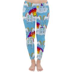 Rainbow Pony  Classic Winter Leggings by Valentinaart