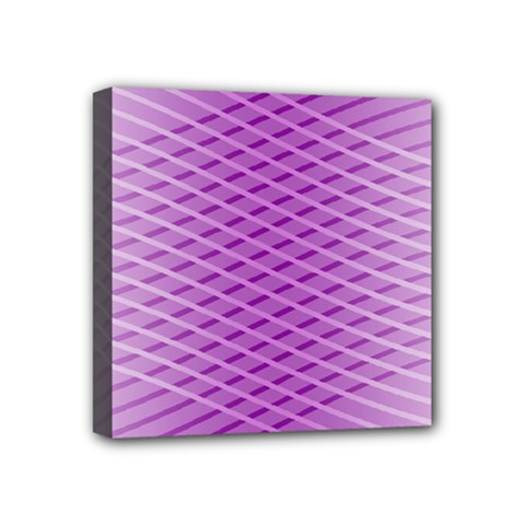 Abstract Lines Background Mini Canvas 4  X 4  by Amaryn4rt