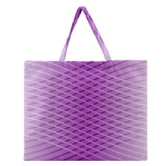 Abstract Lines Background Zipper Large Tote Bag by Amaryn4rt