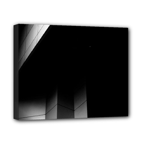 Wall White Black Abstract Canvas 10  X 8  by Amaryn4rt