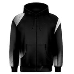 Wall White Black Abstract Men s Zipper Hoodie by Amaryn4rt