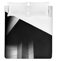 Wall White Black Abstract Duvet Cover (queen Size) by Amaryn4rt
