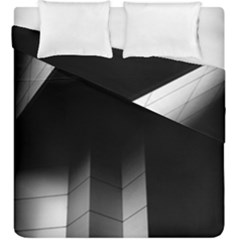 Wall White Black Abstract Duvet Cover Double Side (king Size) by Amaryn4rt