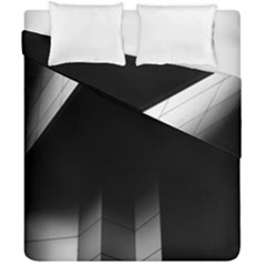 Wall White Black Abstract Duvet Cover Double Side (california King Size) by Amaryn4rt