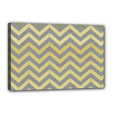 Abstract Vintage Lines Canvas 18  X 12  by Amaryn4rt