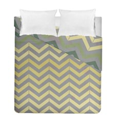 Abstract Vintage Lines Duvet Cover Double Side (full/ Double Size) by Amaryn4rt