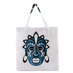 Mask Grocery Tote Bag by Valentinaart