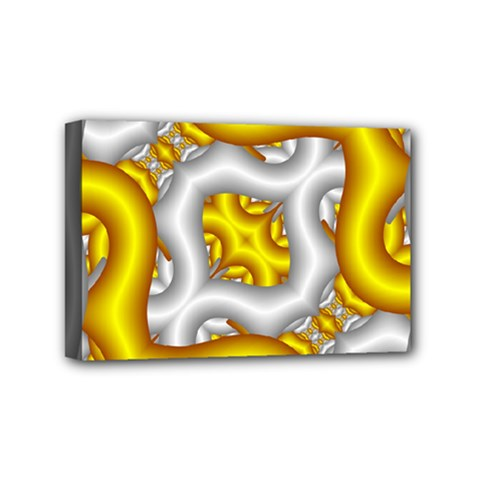Fractal Background With Golden And Silver Pipes Mini Canvas 6  X 4  by Amaryn4rt