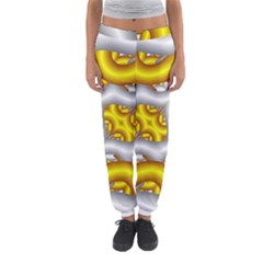 Fractal Background With Golden And Silver Pipes Women s Jogger Sweatpants by Amaryn4rt